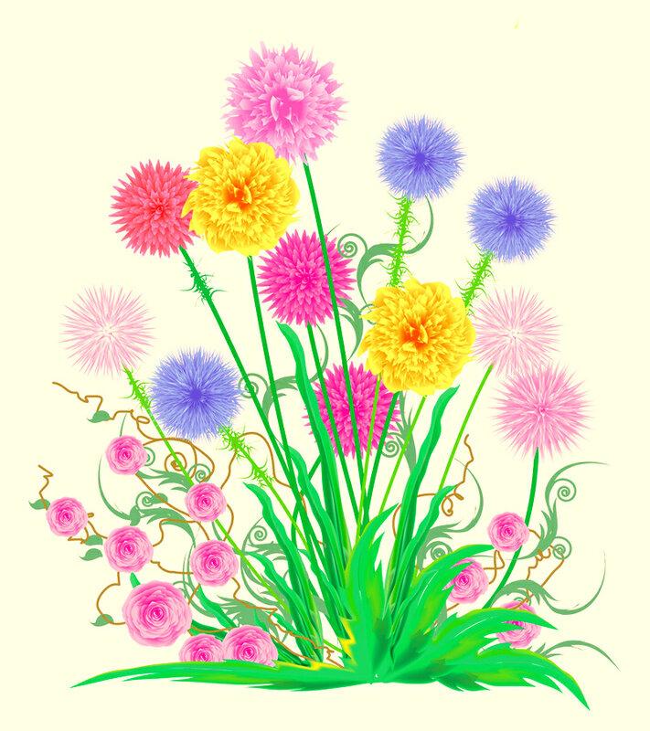 Детские цветы картинки нарисованные 1