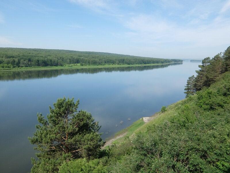 Томская писаница - Вид на Томь со скалы