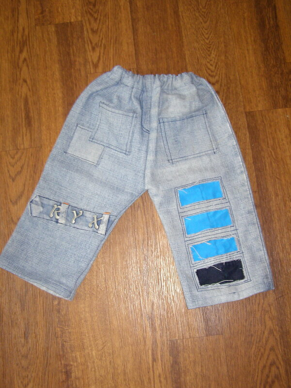 Детские штаны из старых джинсов