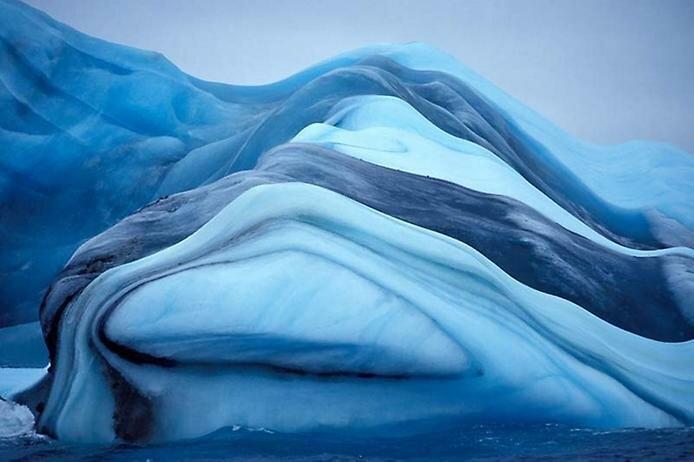 Айсберги и цветные полосы