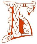 Буквица Б (буки), 14 век