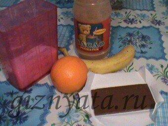 шоколадно-банановый крем