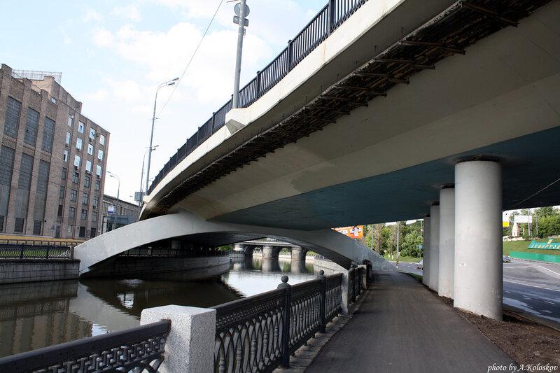 Мост на Красноказарменной набережной
