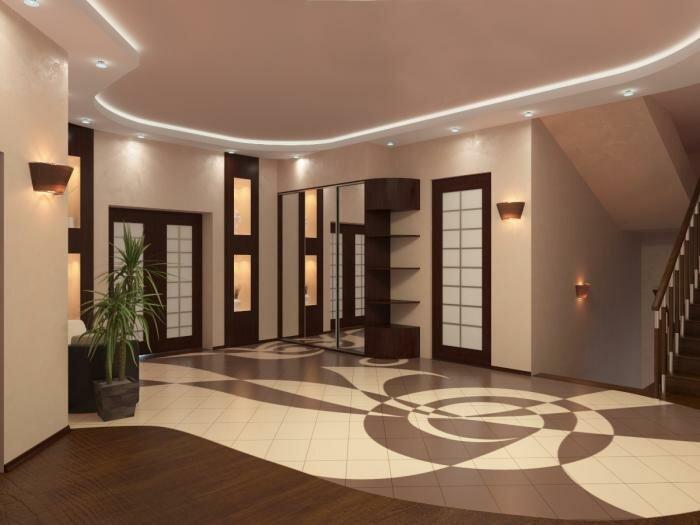 Дизайн холла в доме фото