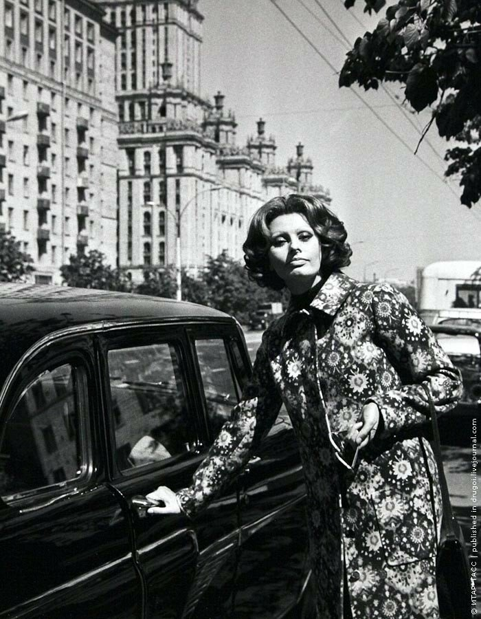 1970. Софи Лорен в Москве