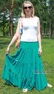 Многоярусная юбка_штапель