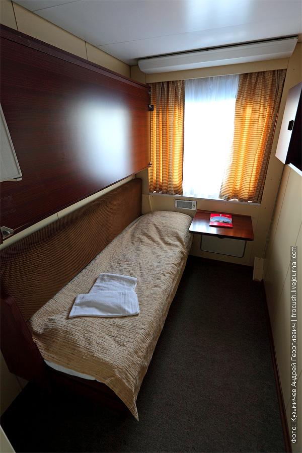 одноместная каюта №365. теплоход «Кронштадт»