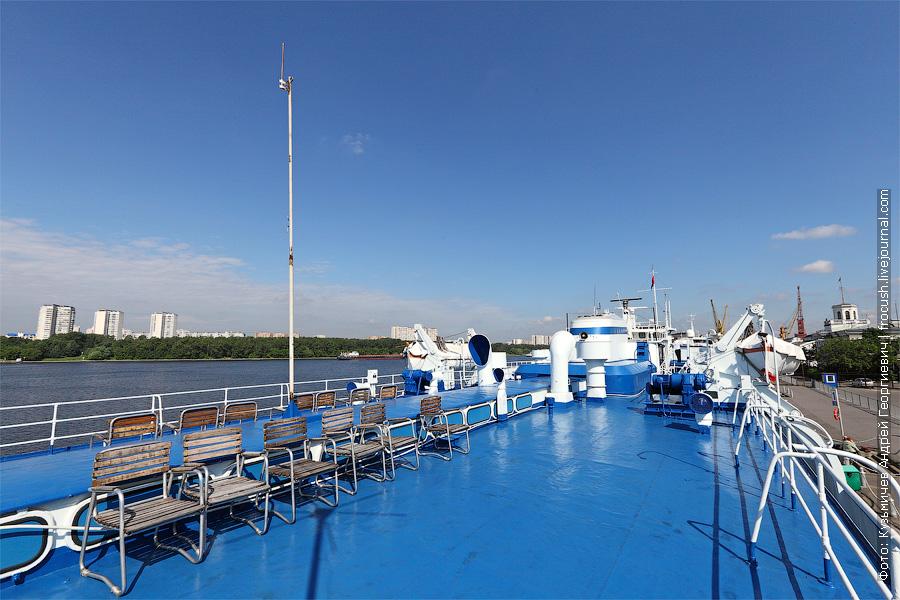 Солярий на шлюпочной палубе. Теплоход «Башкортостан». Фотография
