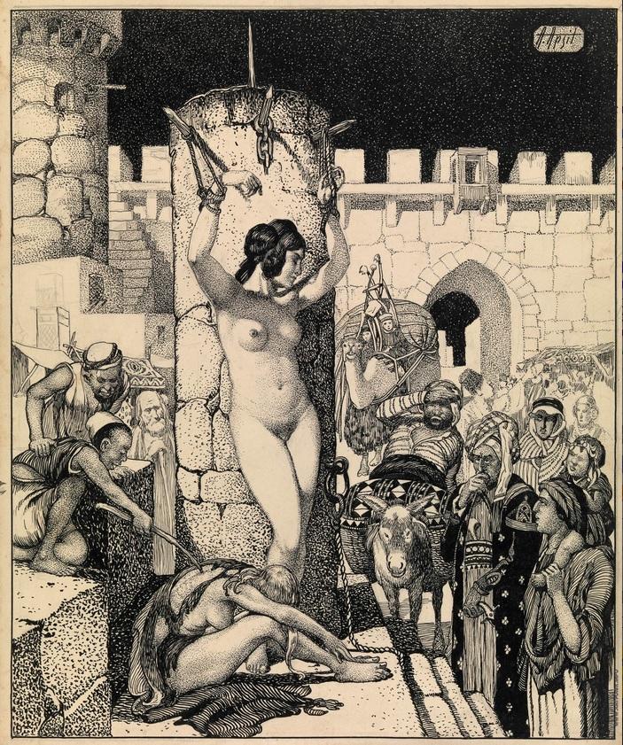 """Иллюстрация к """"Тысяча и одной ночи""""  Апсит Александр Петрович (1880—1944).(2)"""