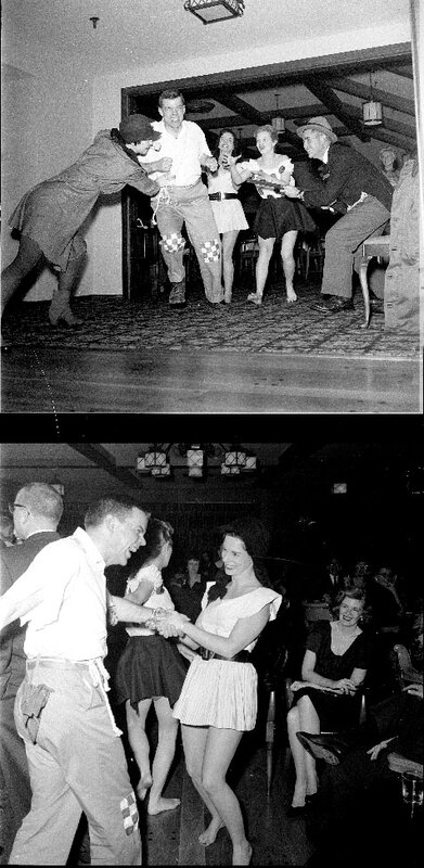 Sadie Hawkins Day Party,Wilmette Jr. auxiliary of the Infant Welfare Society at Sunset Ridge Country Club.March 26 1960