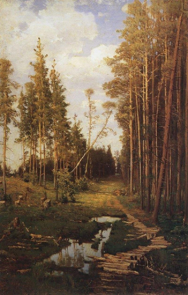 Просека в сосновом лесу, 1883.jpg