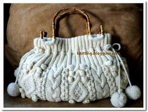 Белая сумка с аранами