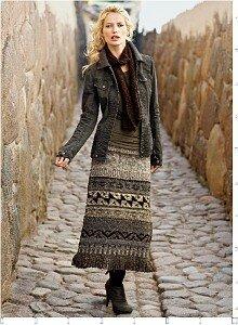 Перуанское дыхание осени - жаккардовые юбки спицами Наши воплощения