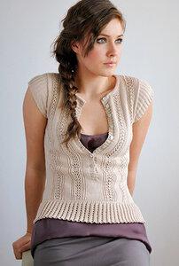 Для влюбленных в Arielle - очаровательная кофточка спицами