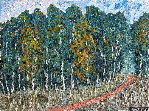Картина пейзаж Березовая роща Лето