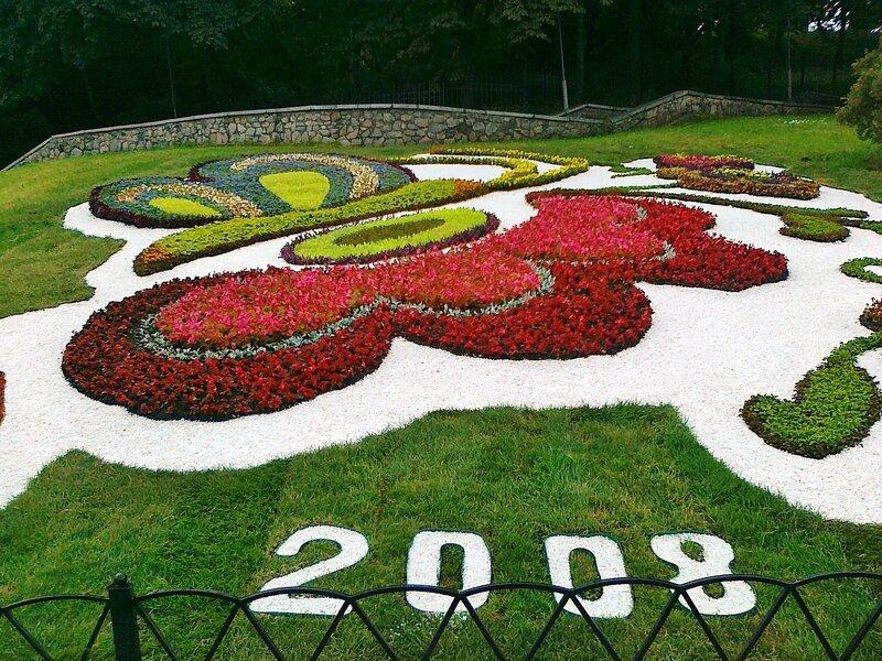 Цветочная композиция в честь Евро 2008