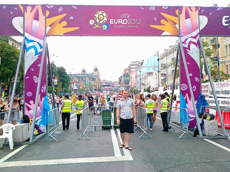 Бессарабские ворота фан-зоны Евро 2012 на Крещатике