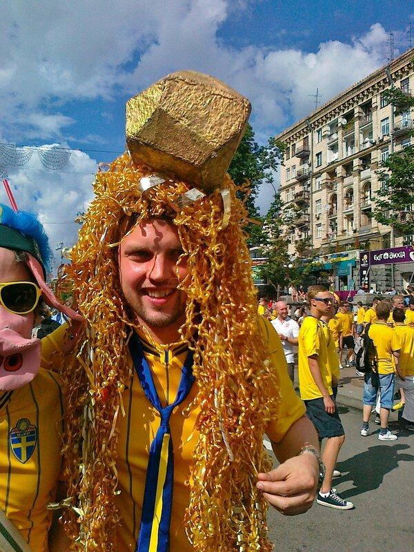 Фан сборной Швеции на Евро 2012