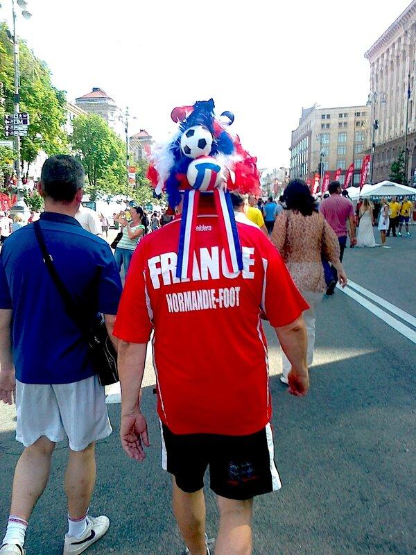 Французский фан на Крещатике