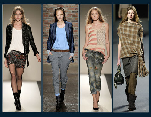 Grunge in modern fashion