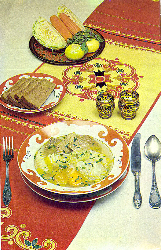 Башкирские блюда комплект открыток