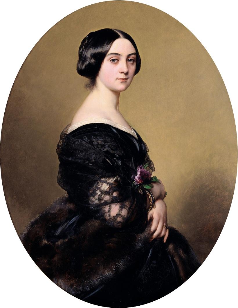 (Винтерхальтер, 1851) Баронесса Анри Hottinguer, урожденная Каролина Делессер Сотбис