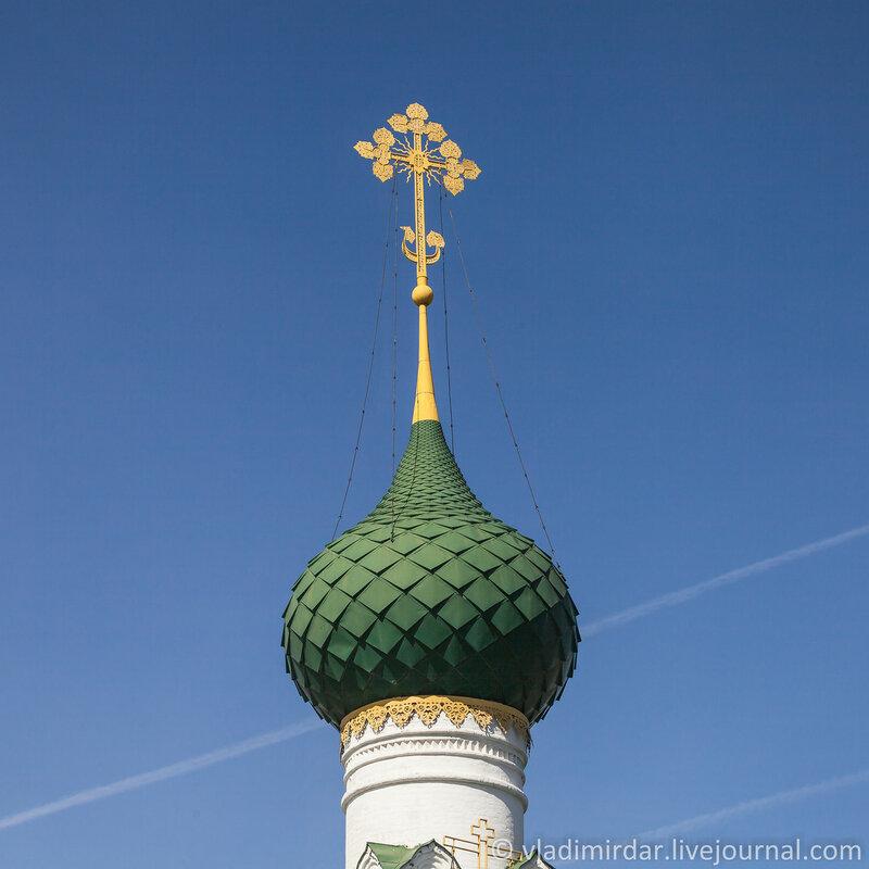 Глава Храма Тихвинской Богоматери. Ярославль. Золотое Кольцо.