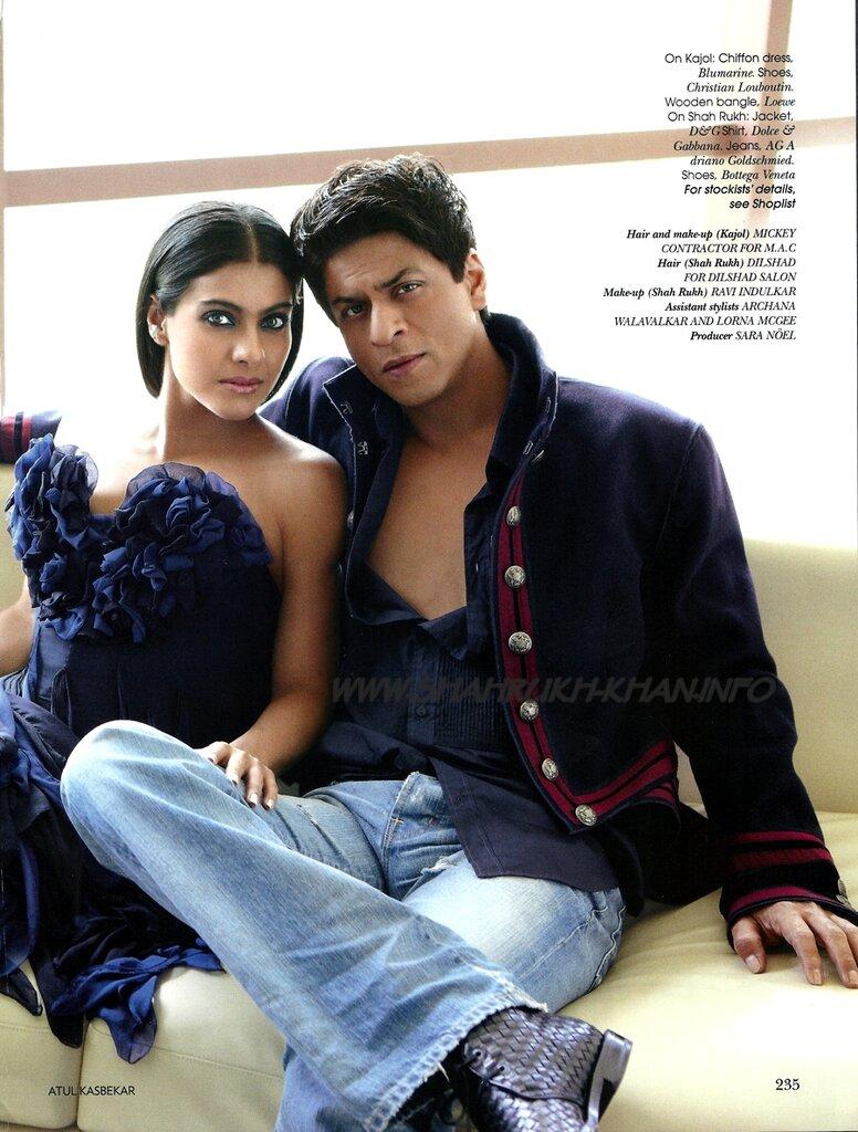 Shah Rukh Khan & Kajol for Vogue 2009