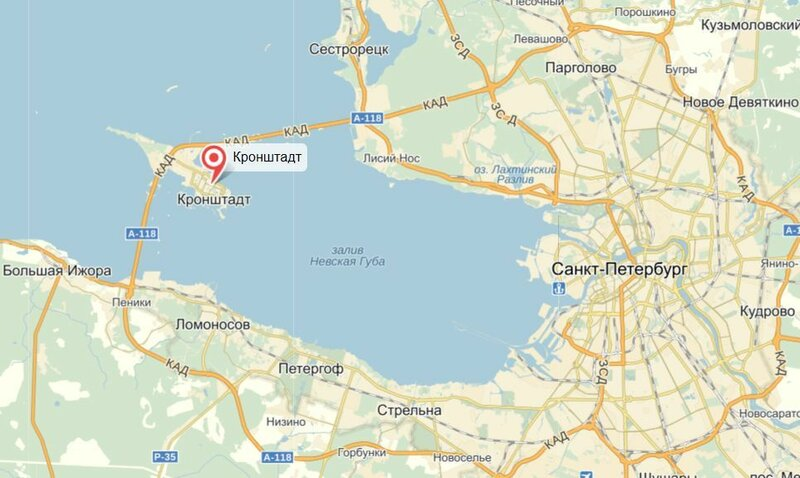 красавица кронштадт на карте ленинградской области фото огромным