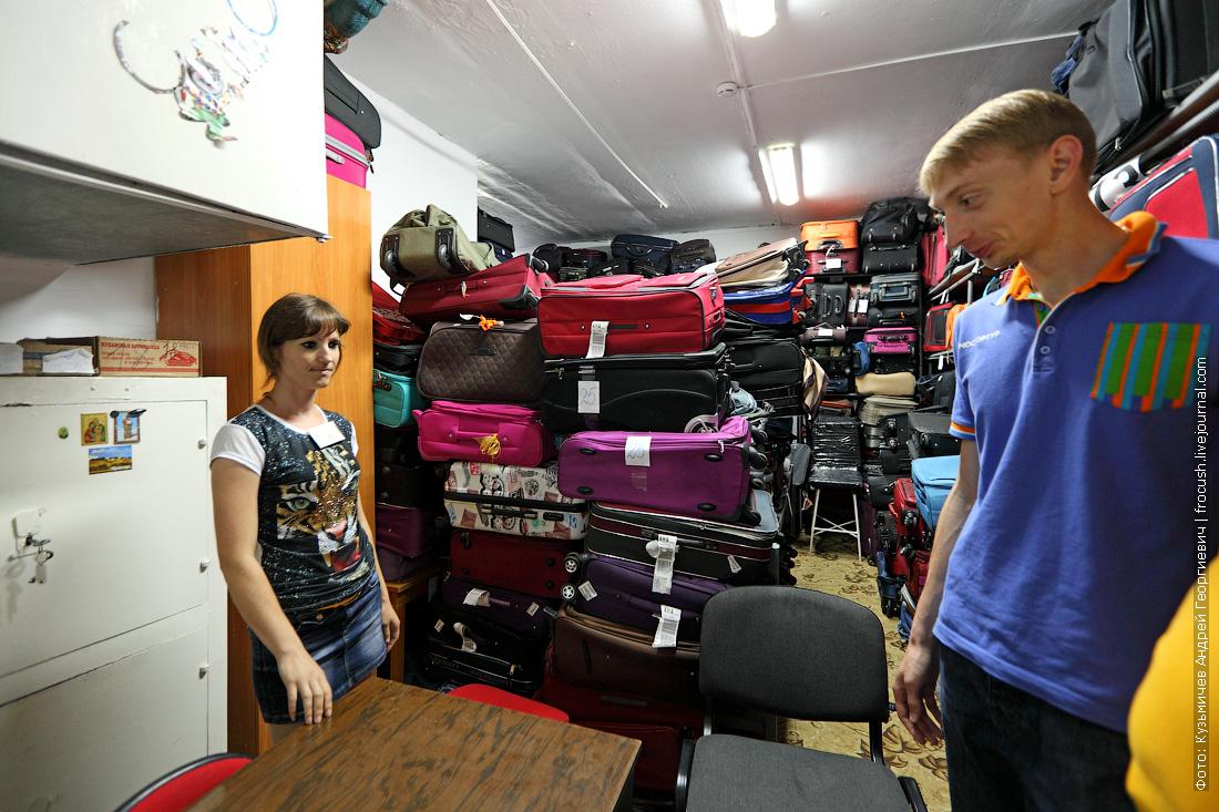 склад чемоданов в лагере Приморский Жемчужина России