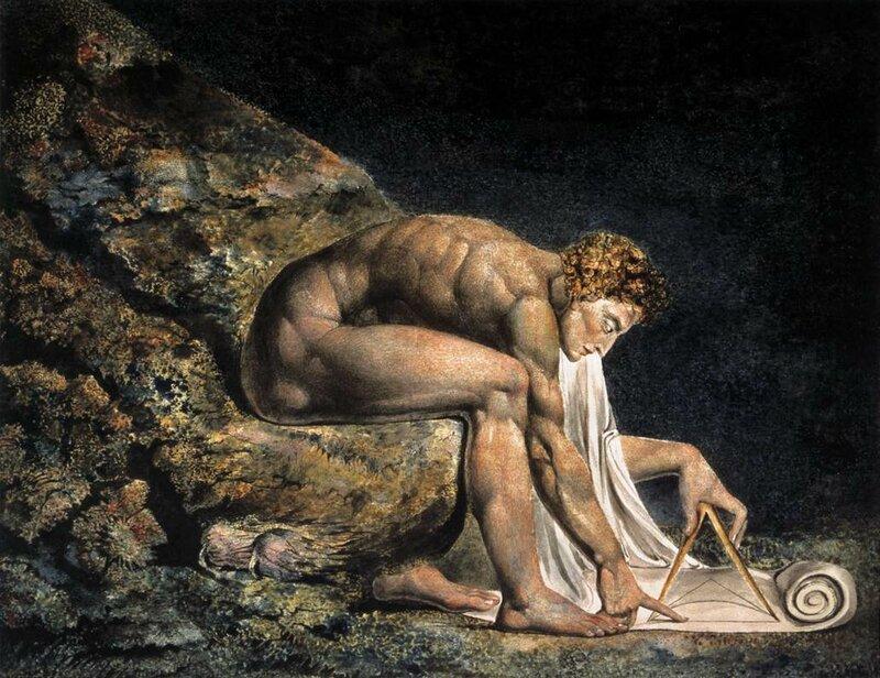 Ньютон. 1825 г., Вильям Блейк