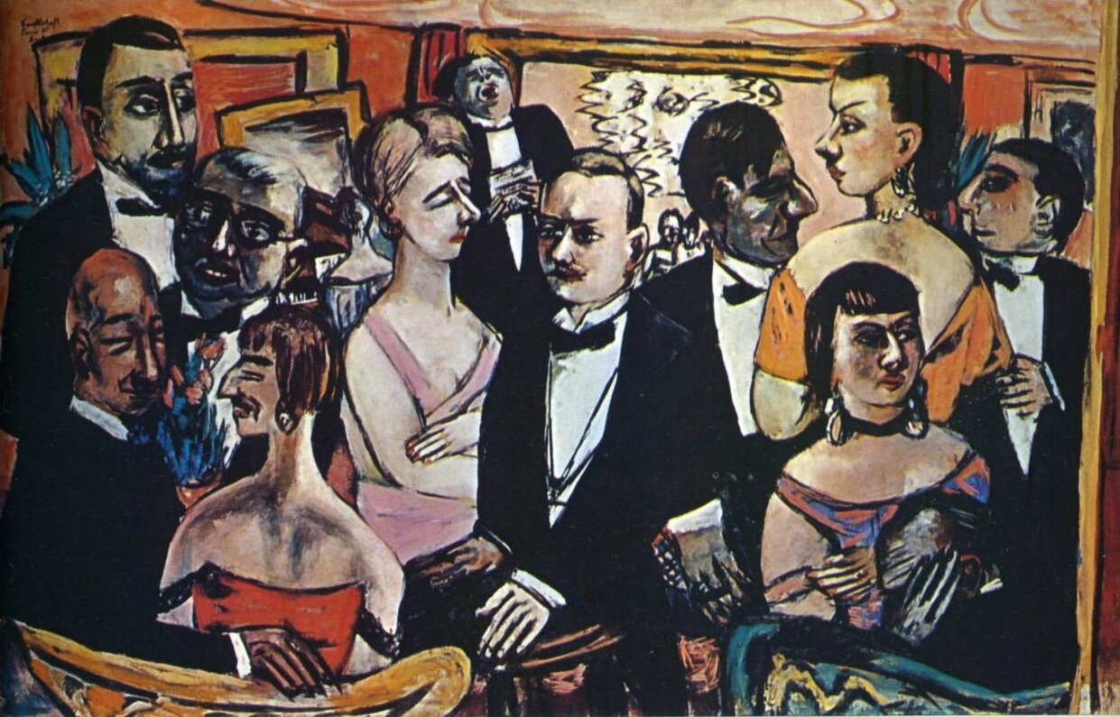 Party in Paris (1931 finished 1947) Max Beckmann (1884-1950) Expressionism