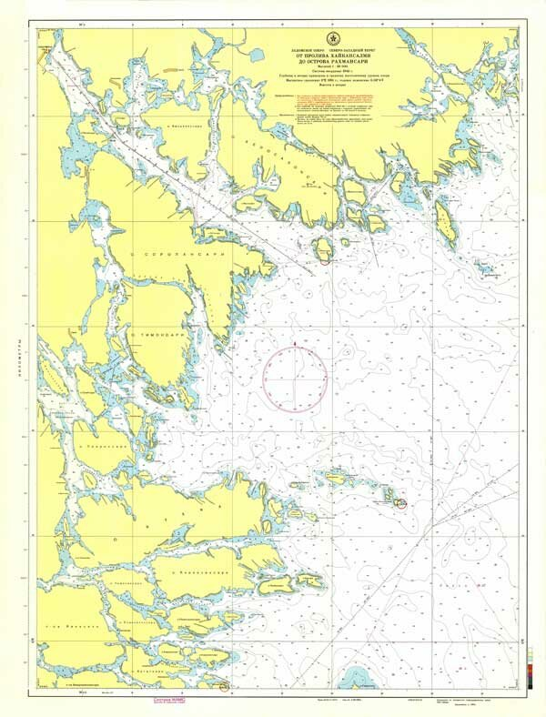 Карта от пролива Хайкансалми до острова Рахмансари