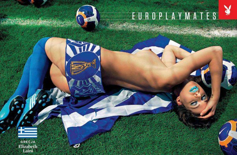 Страны-участницы Евро-2012 в журнале Playboy представляют его модели - Elizabeth Laini - Греция / Плейбой Польша, июнь 2012
