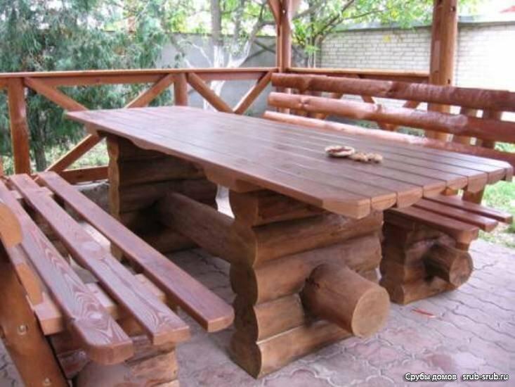 Кухни для дачи из дерева своими руками