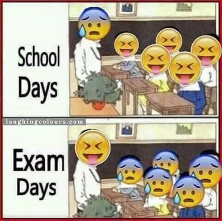 School days and exam days