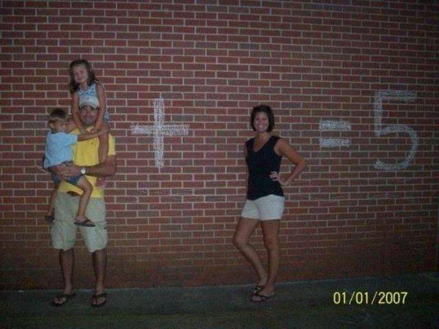 Оригинальное семейное фото