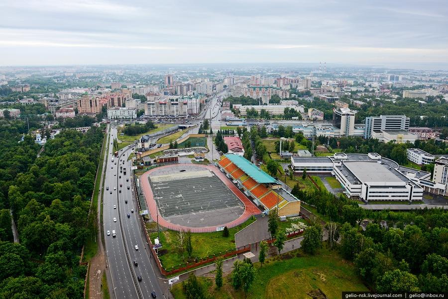 Казань с вертолёта. Объекты Универсиады (2012)