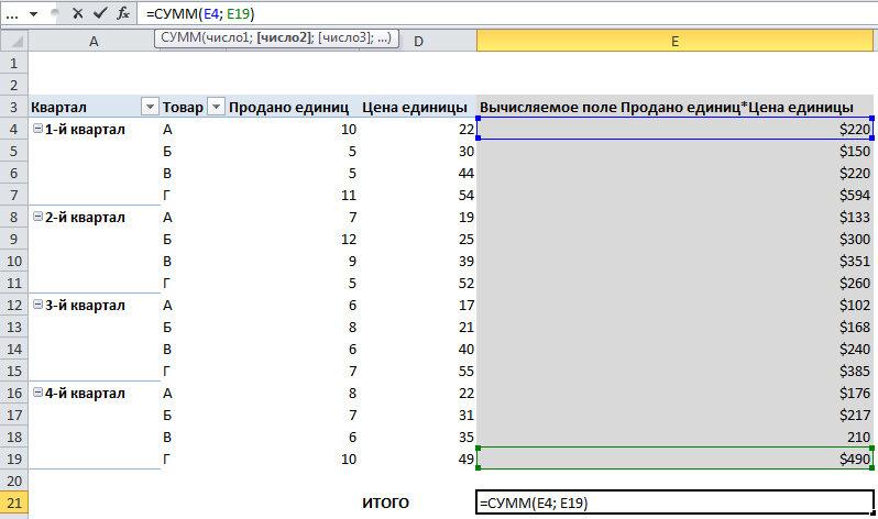 Рис. 5.30. Расчет новой итоговой суммы поможет предотвратить появление некорректных данных в отчете