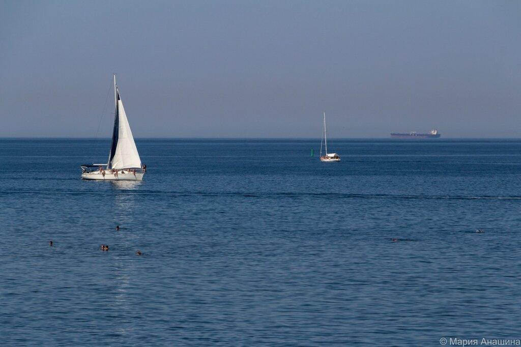 Яхты в море, Геленджик