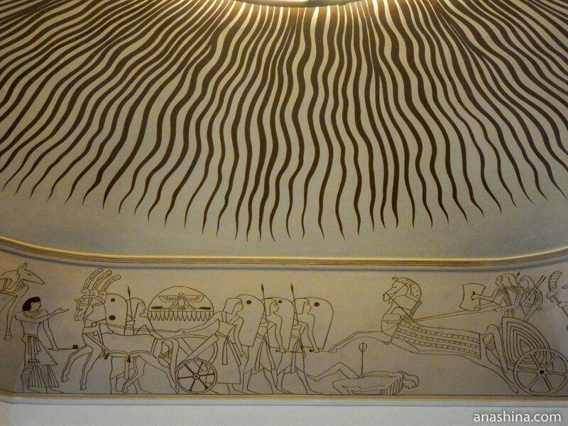 Роспись свода Египетского зала, дом Смирнова