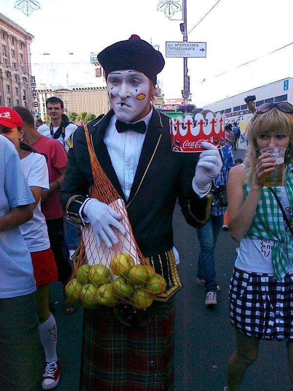 Фан-зона Киева 1 июля