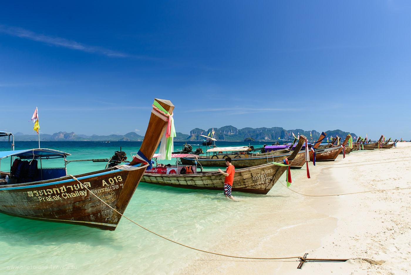 Фото 5. Лодки Long-tail Boat тоже являются символом Тайланда. Рассказ о самостоятельном отдыхе в провинции Краби (200, 24, 9.0, 1/200)