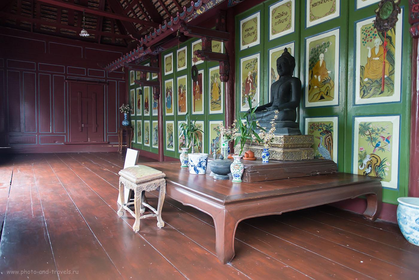 Фотография 9. Внутри одного из домиков в рыбацкой деревне в музее под открытым небом Муанг Боран в Бангкоке. Отчет об отдыхе в Таиланде самостоятельно. (1600, 24, 2.8, 1/60)