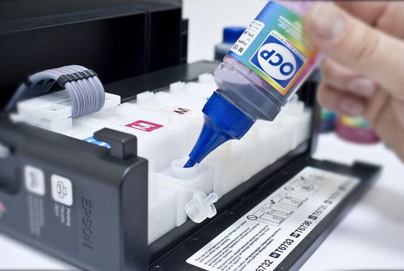 Как сделать чернила в принтере