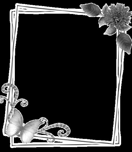 Рамки черно-белые на открытки с днем