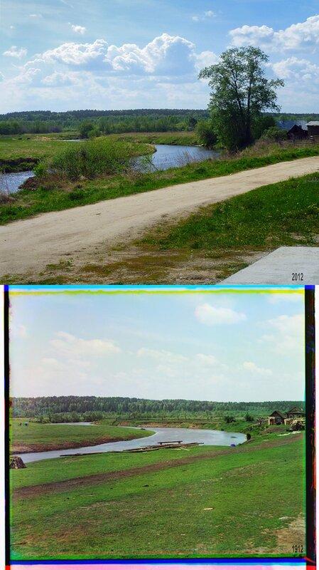 Река Чусовая в деревне Макаровой.