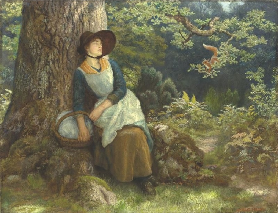BRITISH, 1832-1915 ASLEEP IN THE WOODS.