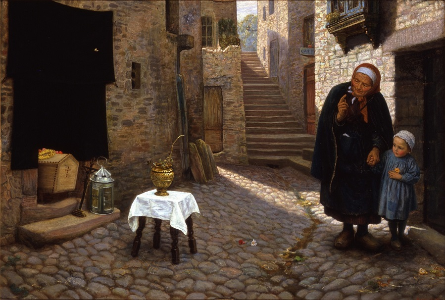 The old Neighbour gone before a Street Episode in Brittany , 1878-1879.