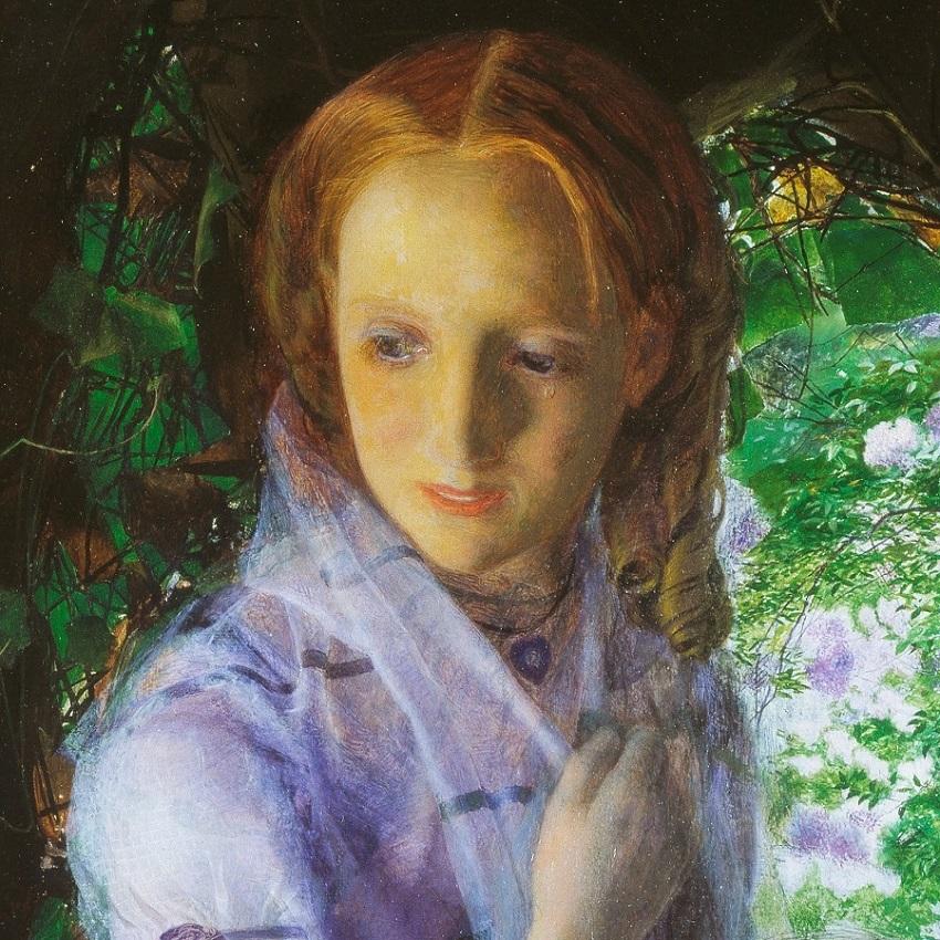 1855 (ок) Апрельская любовь (April Love) Лондон, Музей Тейт (деталь)